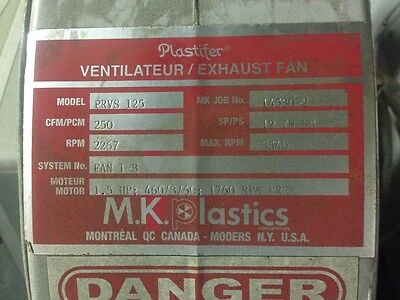 Plastifier Prvs 125 High Pressure Low Volume Centrifugal Blower