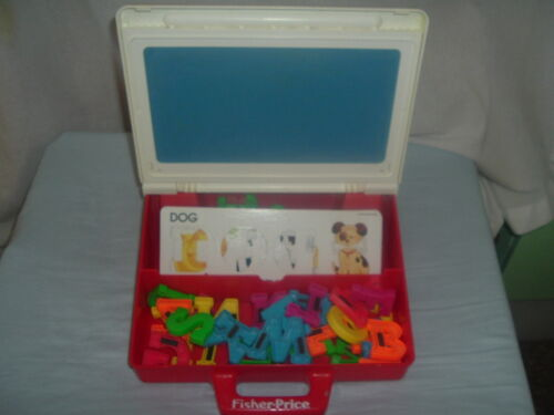 Vintage Fisher Price School Board with Magnetic Alphabet and More,Good Condition