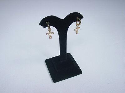 4h Black Velvet Earring Jewelry Display Top Case Stand Earring Rd16b1