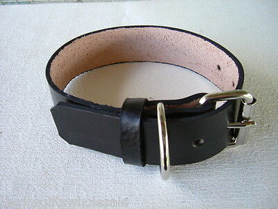 """#DC8 PERSONALIZED LEATHER  1 1/2""""w LARGE Dog Collar"""