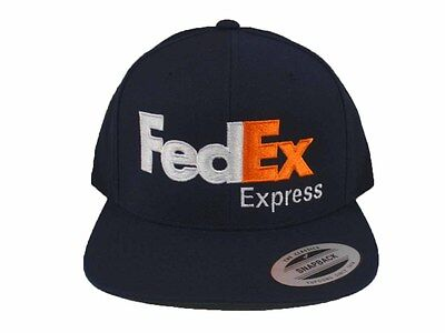 FedEx Express Snapback Hat Cap Yupoong Adjustable Dark Navy