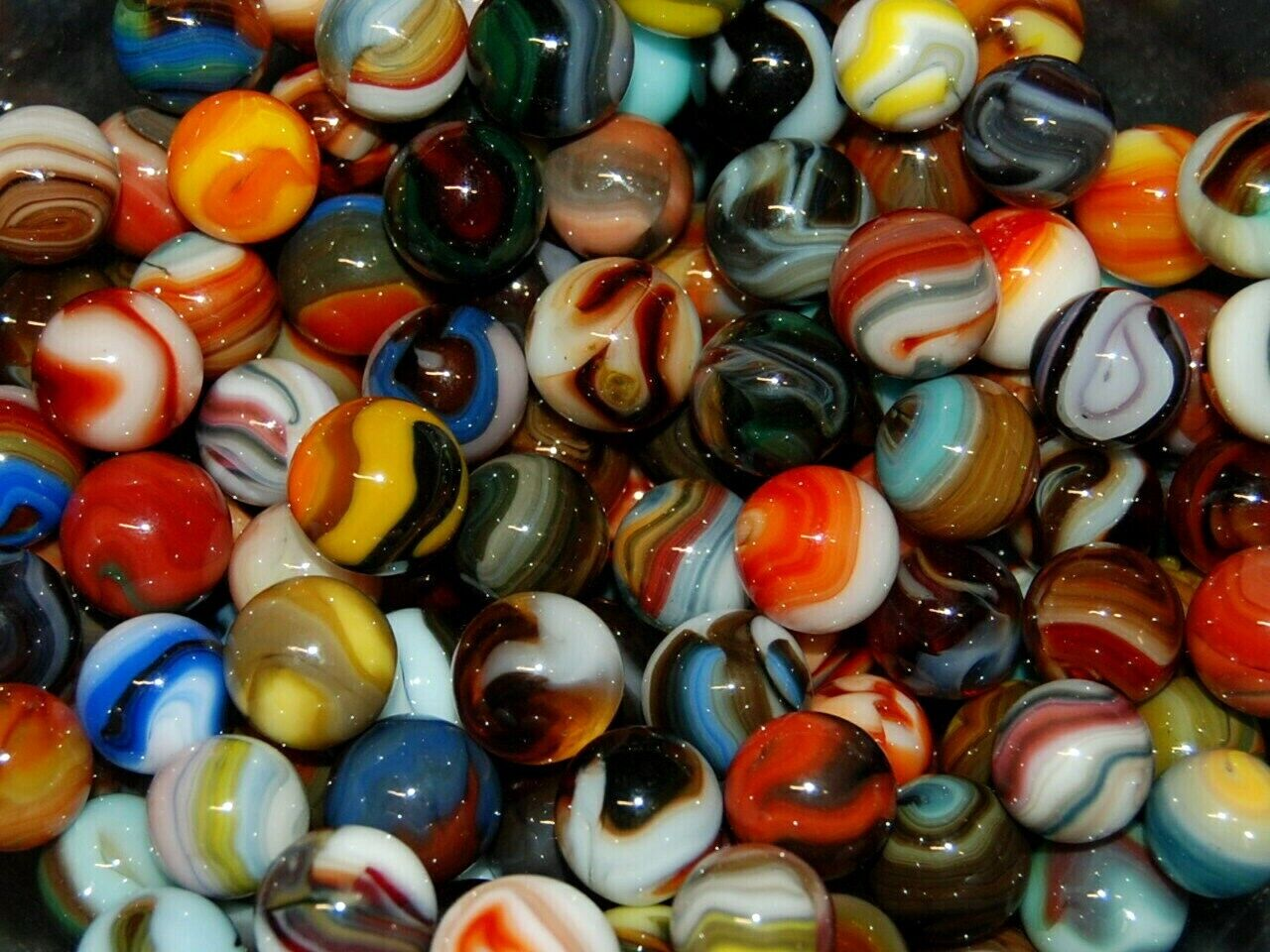 6 Jabo Classic Marbles Collector Set  HTF Marble Lot KEEPERS 2289 Free Shipping