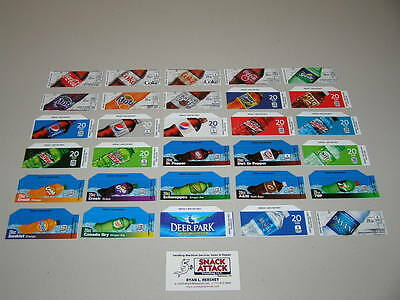 30 Coke Or Soda Vending Machine 20oz Bottle Vend Label Variety Pack - New