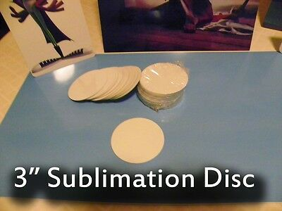 Gloss White Aluminum Dye Sublimation 3 Round Blank Discs - Lot Of 25pcs