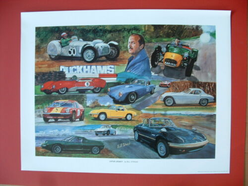 Lotus classis sports car art print