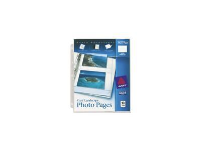 Avery 13406 Photo Pages for Four 4 x 6 Horizontal Photos, 3-Hole Punched, 10/Pac