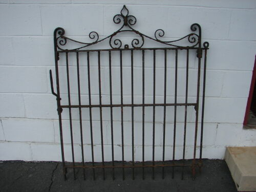 "Antique Old Wrought Iron Heavy Garden Yard Gate Decor 48"" x 37"""