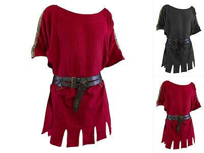 Epic Armoury Römische Tunika Kurzarm Mittelalterhemd Mittelalter LARP (Römische Tunika Kostüm)