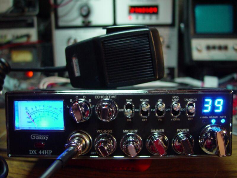 GALAXY DX-44HP RADIO,MOSFET DUAL FINALS,HI REC((SKIP TALKING^^^SKY WALKER))