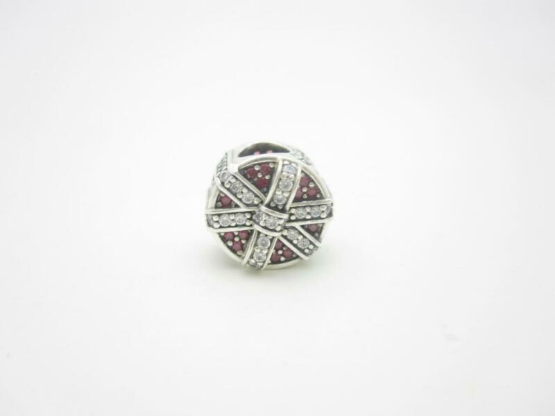 Pandora Sterling Silver Red Clear CZ Sparkling Gift Holiday Charm