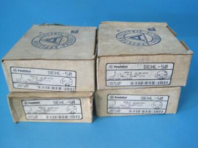 New Lot Of 4 Appleton Electric Mall Iron Round Outlet Conduit Box 12 Sehl-50
