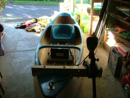 B-Line Wallaby Canoe with electric motor Belmont Lake Macquarie Area Preview