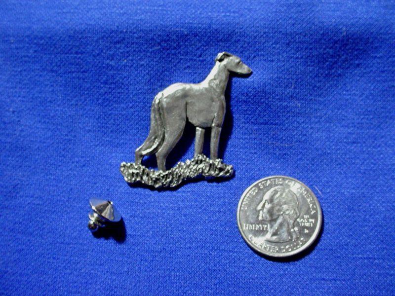 Whippet Greyhound stylized tie tack #11G Dog Jewelry