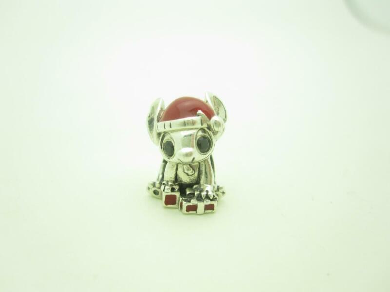 Pandora Sterling Silver Disney Stitch Red Enamel Christmas Holiday Charm