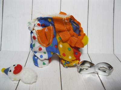 Vintage G1 My Little Pony WEAR BABY CLOTHES CLOWN COSTUME PAL FRIEND SILVER MASK