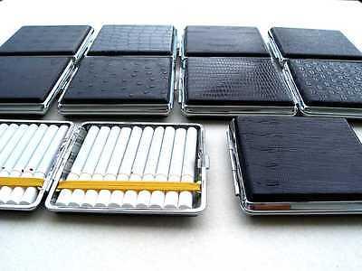 Zigarettenetui Zigarettenbox Etui aus Blech in Lederoptik für 20 Zigaretten