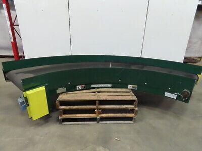 Rapistan 30 Lh Power 90 Curve Flat Top Slide Bed Belt Conveyor 93fpm 230460