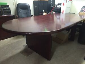Dark Cherry  Boardroom Table and Chairs