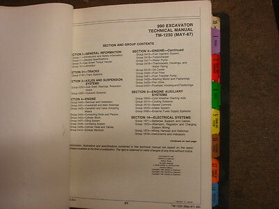 John Deere 990 Excavator Service Technical Manual