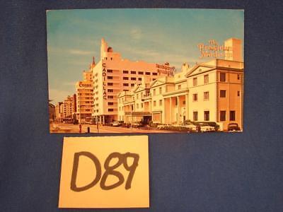D89 VINTAGE POSTCARD HOTELS ALONG COLLINS AVE 38th ST AREA MIAMI BEACH FLORIDA