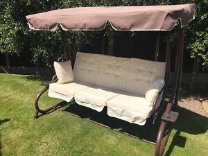 Gardman Somerset  3 seat Swing Hammock Bed Heavy Duty Garden Bench Patio