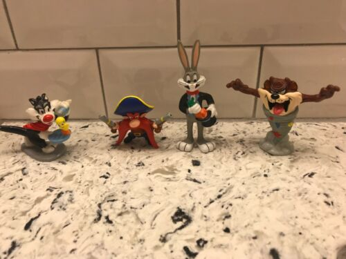 Lot of 4 Vintage 1990 Looney Tunes Applause PVC Figurines