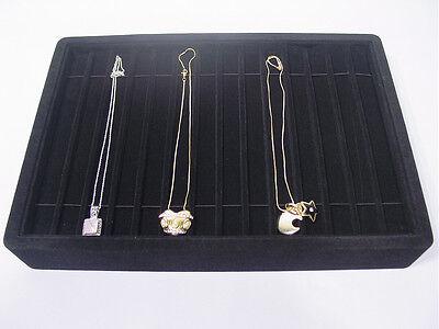 13l X 9w Black Velvet Bracelet Necklace Watch Chain Display Tray Case Pt4-14b1
