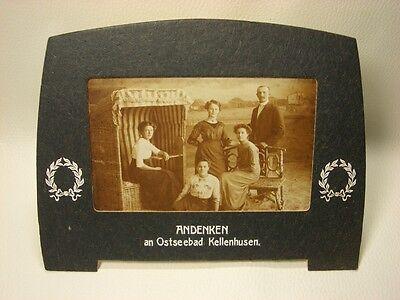 alter Bilderrahmen mit Foto – ANDENKEN an Ostseebad Kellenhusen ()