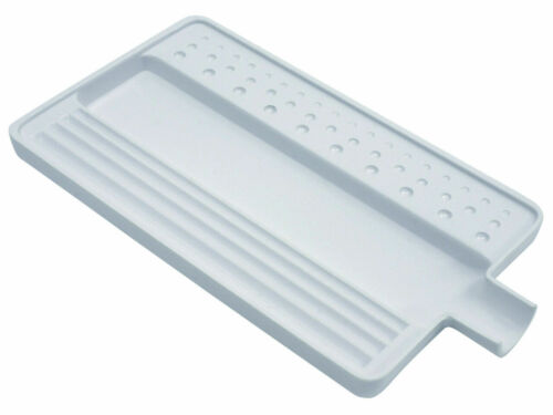 """White Plastic Sorting Tray for Colored Stones Beads & Gems 3-3/4"""" x 7"""" Large"""
