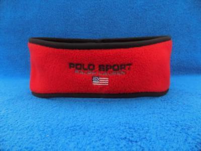 Vintage Polo Sport Ralph Lauren Fleece Winter Ski Ear Warmer Headband USA Mint