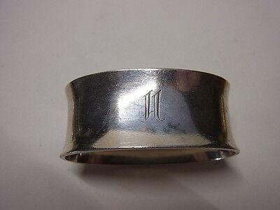 Vintage 50er Jh. Accessoires 925 Silber Serviettenringe Serviettenhalter Mono H