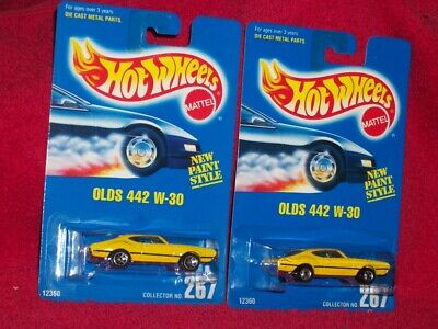 Hot Wheels 1991 Olds 442 W-30 Collector #267 2 Variations Wheels