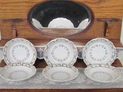 *Antique Porcelain Doll Dishes Vintage early 1900 England Bowls  Wood & Son