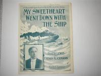 Music Sheet Titanic My Sweetheart Went Down With The Ship Roger Lewis Frank & Co - titan - ebay.co.uk