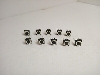 10x Pack Lot 6 X 6 X 4.3 Mm 2 Pins Push Touch Momentary Micro Button Switch Dip