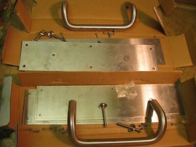 2 Rockwood Stainless Steel Us32d Pull Push Plates 150x70b Offset Door Handles