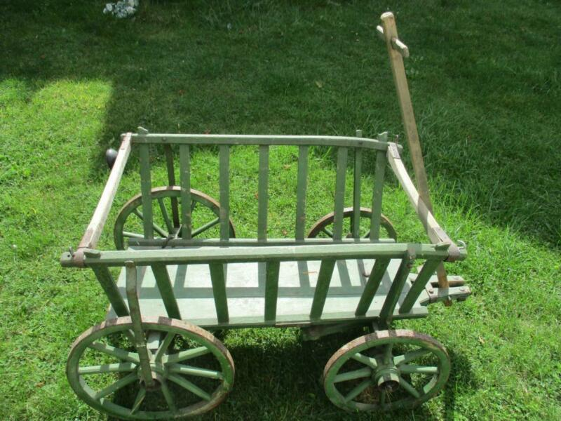 Antique Wagon Wheel Goat Cart