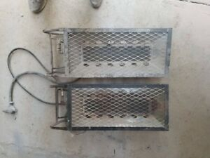 Two propane construction heaters and 1 kerosine/ diesel heater