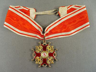 """5090, St.Stanislaus Orden, Kreuz 2.Klasse, Gold und Emaille, Goldpunze """"56"""", BA"""