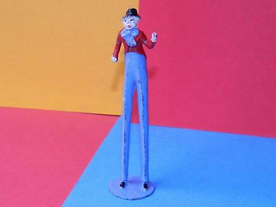 VINTAGE RARE PRE-WAR CHARBENS LEAD MIMIC CIRCUS SERIES STILT WALKING CLOWN
