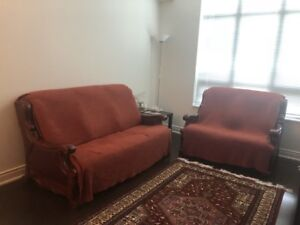 Sofa & Love Seat for free