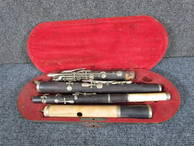 *RARE* 19THc. ANTIQUE ROSEWOOD FLUTE & also PICCOLO?