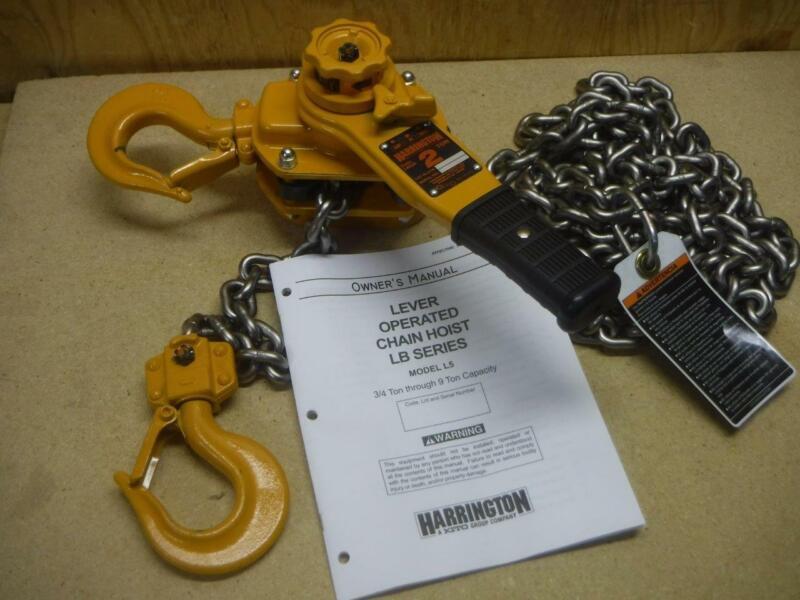 New HARRINGTON LB020-15 Lever Chain Hoist 4000 lb. Load Capacity 15 ft. Lift