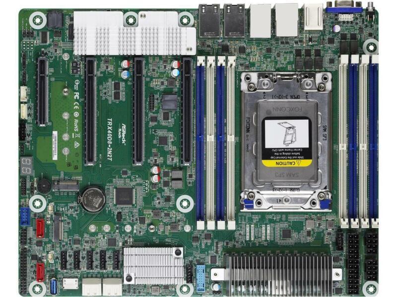 AsRock Rack TRX40D8-2N2T ATX Server Motherboard AMD sTRX4 3rd Gen Ryze Threadrip