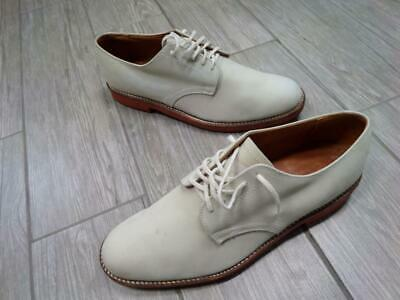 vintage BROOKS BROTHERS white SUEDE nubuck leather 10.5 D derby shoes oxford White Suede Oxford