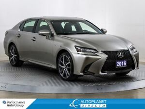 2016 Lexus GS 350 F-Sport AWD, Navi, Back Up Cam, Head Up Displa