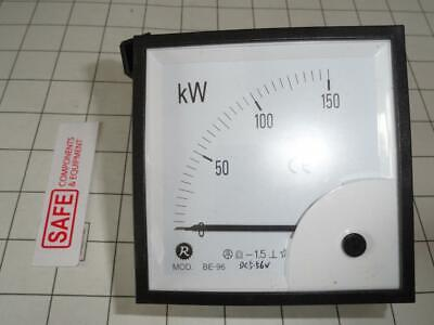 Risesun Watt Meter 90 Scale 150kw 1-ph Dc5-56v Analog Be-96 Panel 96mm Mm-562