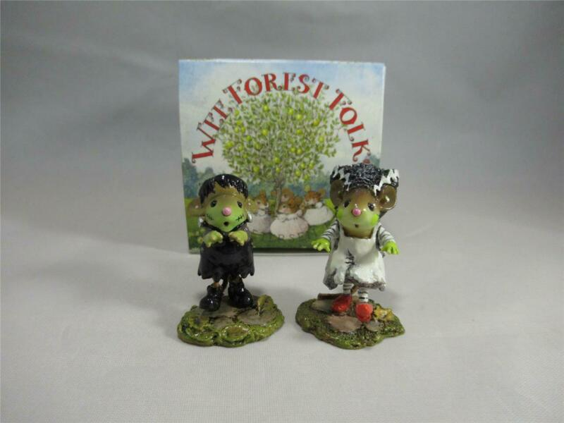 Wee Forest Folk Frankenmouster and Bride of Frankenmouster - New in WFF Box
