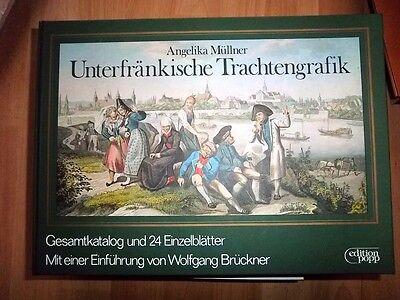Unterfränkische Trachten Grafik, , Angelika Müllner, Katalog + Tafeln