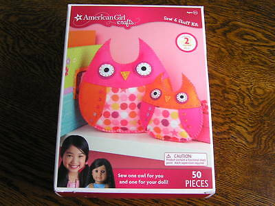Owl Stuff For Girls (American Girl Crafts Sew & Stuff 50~Piece Kit 2 OWLS One For You & Doll Ages)